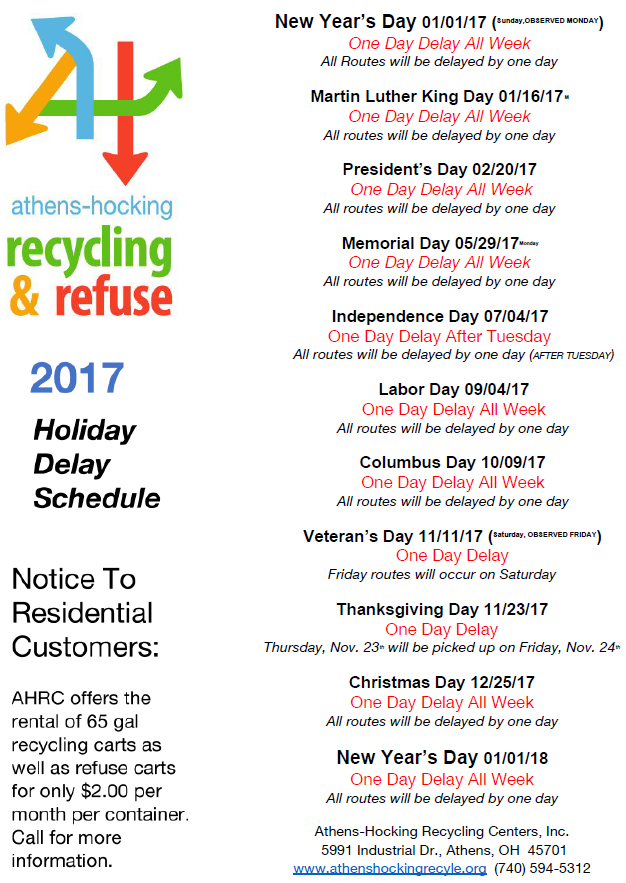 holidayGarbageSchedule