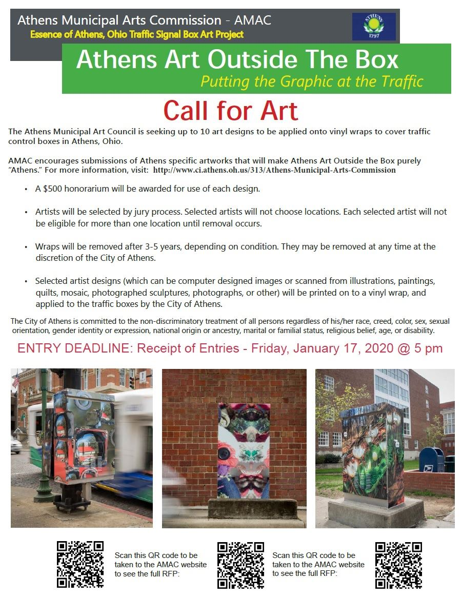 AMAC call for art outside the box entries