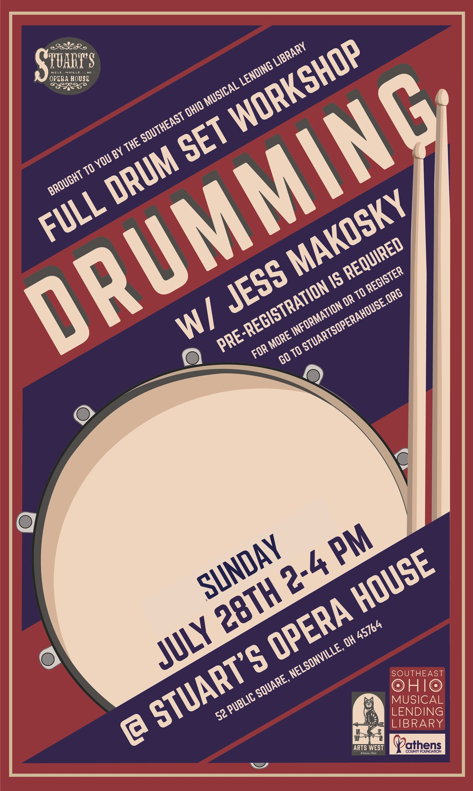 Drumming Workshop Poster 7.2019
