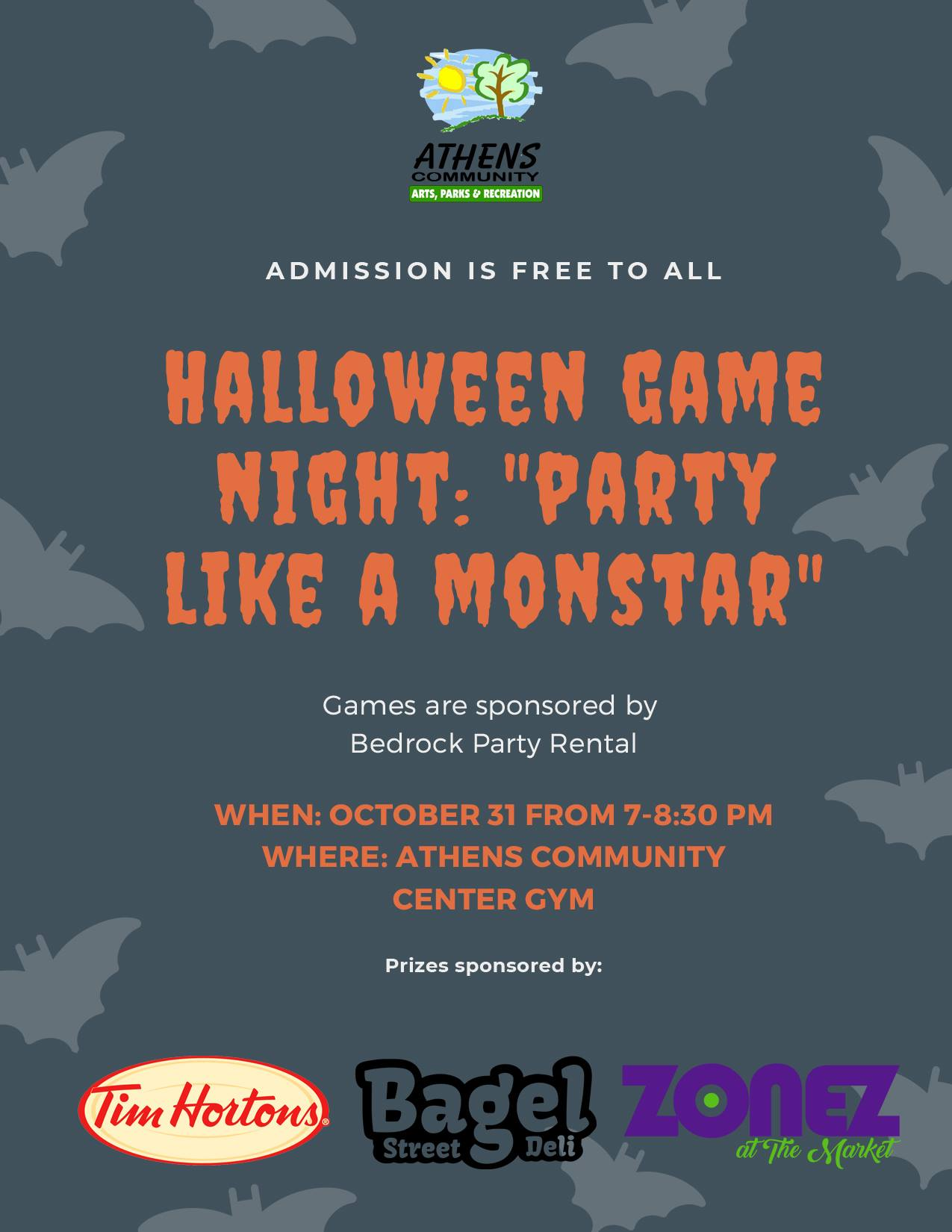 Halloween Game Night 2019 Flyer
