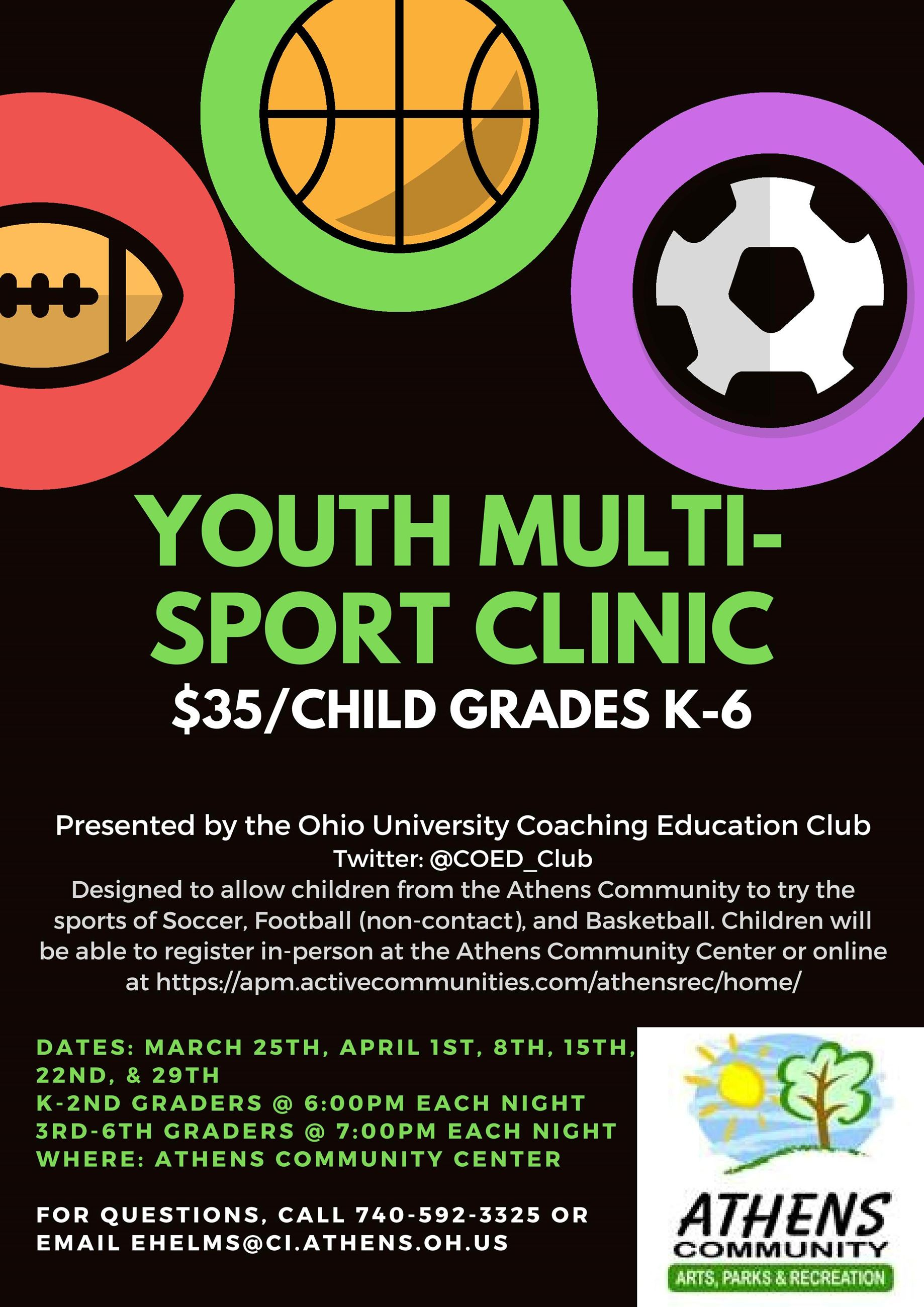 OUCEC Spring 2020 Athens Community Center Youth Multi-Sport Clinic Flyer-page-001